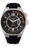 Jorg Gray JG8300-13 Men's Watch Black Dial Black Silicone Strap Swiss Movement