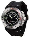 Jorg Gray JG8700-11 Men's Watch 47mm Swiss Rhonda Movt Black Silicone Strap Black Dial