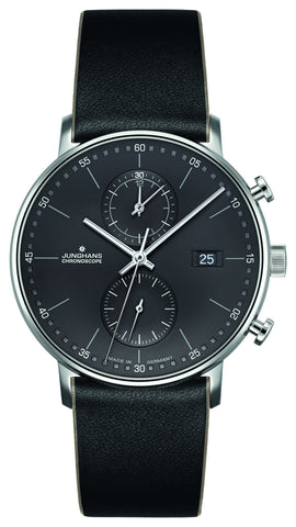 Junghans Form C Chronoscope 40mm Quartz Matte Anthracite Dial Men's Watch 041/4876.00