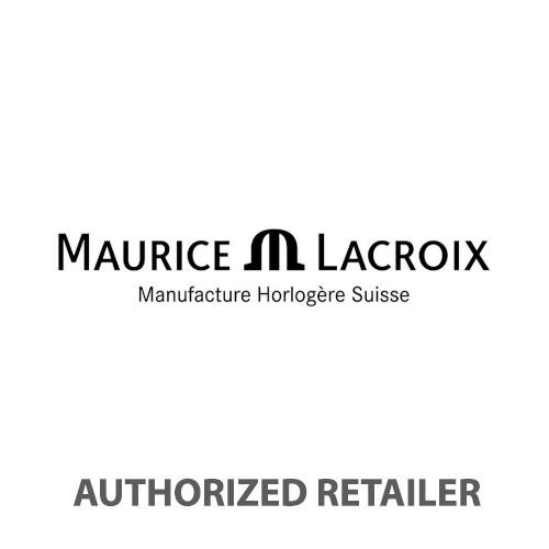 Maurice Lacroix AIKON 44mm Automatic Chronograph Black Leather Strap Men's Watch AI6038-SS001-132-1