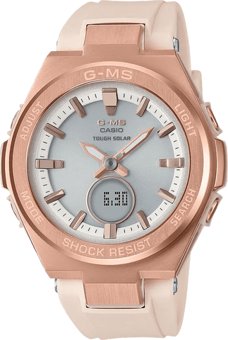 G-Shock Baby-G G-MS Rose Gold Case Beige Strap Women's Watch MSGS200G-4A
