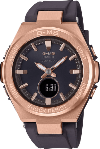 G-Shock Baby-G G-MS Rose Gold Case Brown Strap Women's Watch MSGS200G-5A