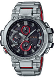 G-Shock MT-G Silver - Red Stainless Steel Solar Connected Men's Watch MTGB1000D-1A