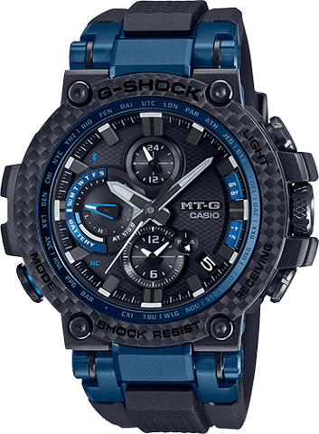 G-Shock MT-G Black - Blue Solar Connected Men's Watch MTGB1000XB-1A