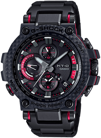 G-Shock MT-G Black - Red Solar Connected Men's Watch MTGB1000XBD-1