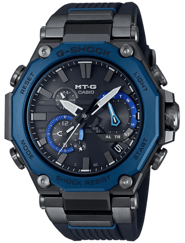 G-Shock MT-G Black-Blue Dual Core Guard Metal Men's Watch MTGB2000B1A2