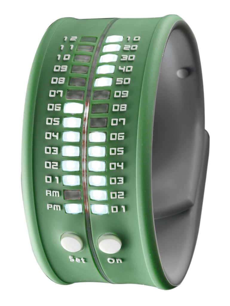 REFLEX Forest Green Slap Silicone Watch LED Digital Display Unsiex PD0019 Forest Green