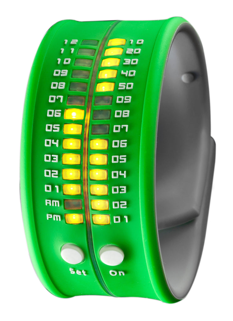 REFLEX Green Slap Silicone Watch LED Digital Display Unsiex PD0019 Green
