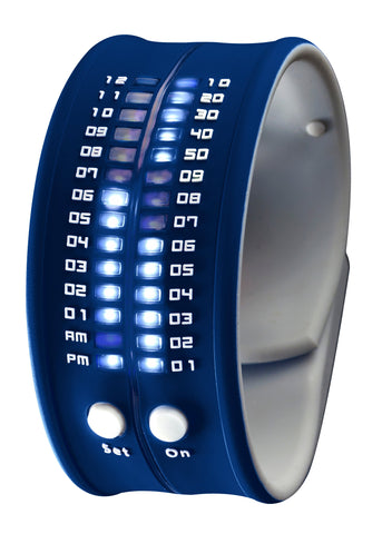 REFLEX Navy Slap Silicone Watch LED Digital Display Unisex PD0019 Navy