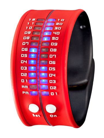 REFLEX Red Slap Silicone Watch LED Digital Display Unisex PD0019 Red