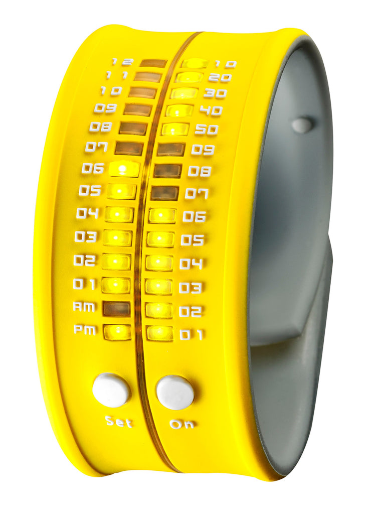 REFLEX Yellow Slap Silicone Watch LED Digital Display Unsiex PD0019 Yellow