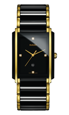RADO Integral Diamonds 31mm Ceramic-Stainless Steel Black-Gold Men's Watch R20204712