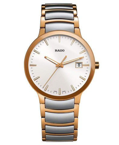 RADO Centrix 38mm Rose-Gold PVD Silver Stainless Steel Men's Watch R30554103