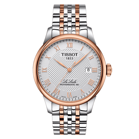Tissot Le Locle Powermatic 80 Automatic Rose Gold Stainless Steel Men's Watch T0064072203300