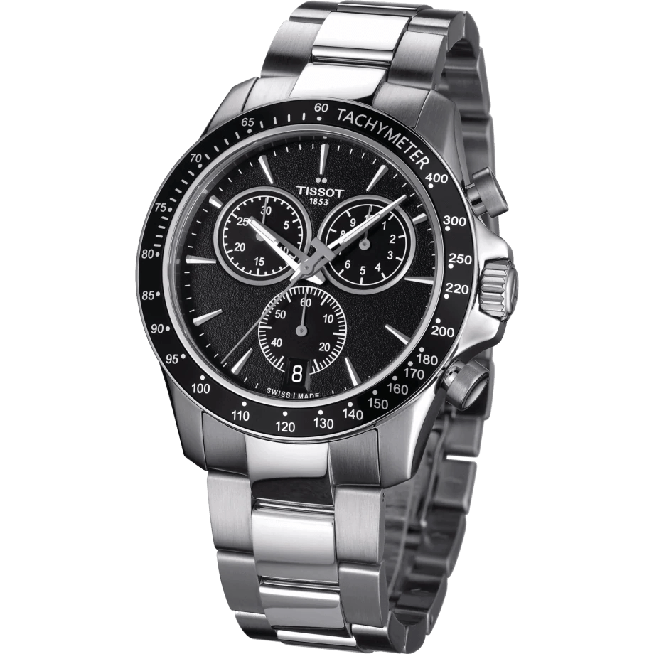 Tissot T-Sport V8 Swiss Quartz Chronograph Black Dial Men's Watch T1064171105100