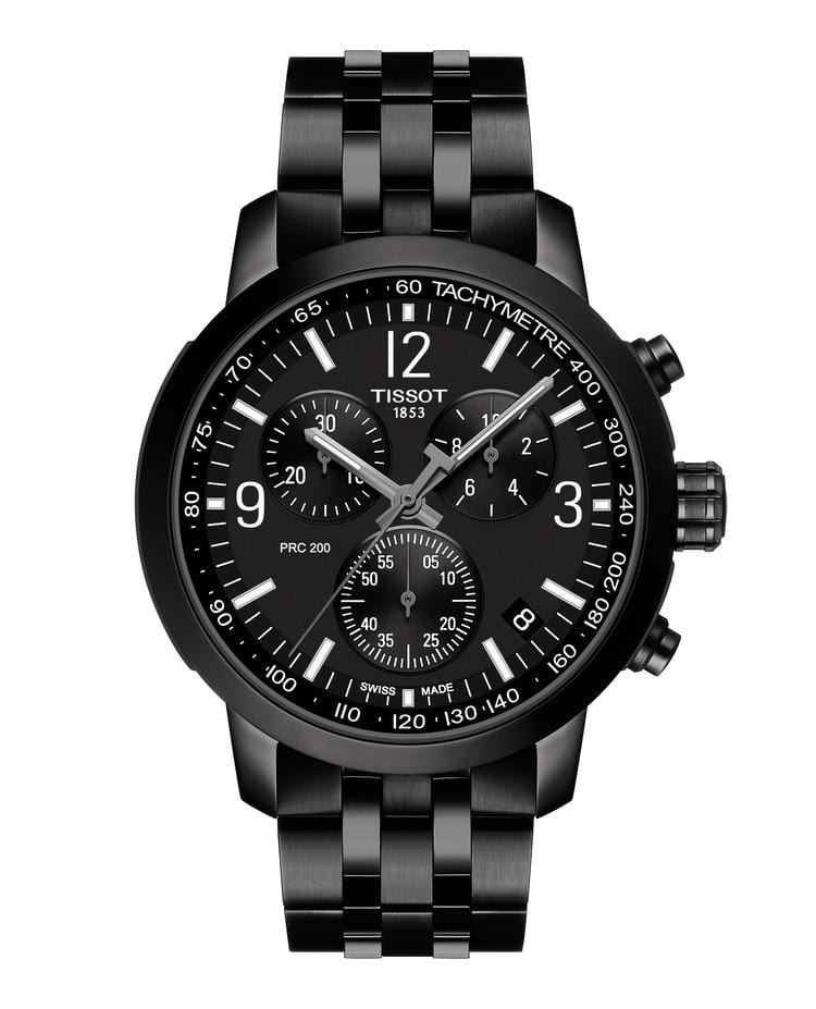 Tissot PRC 200 Chronograph Black PVD Men's Watch T1144173305700