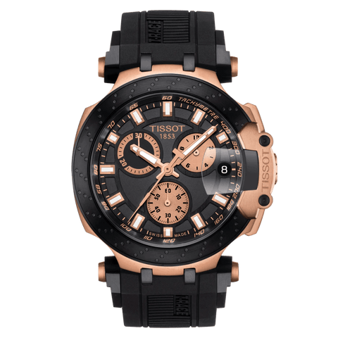 Tissot T-Sport T-Race Chronograph Rose-Gold Black Men's Watch T1154173705100