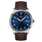 Tissot Gent XL Classic Blue Dial Brown Leather Strap Men's Watch T1164101604700