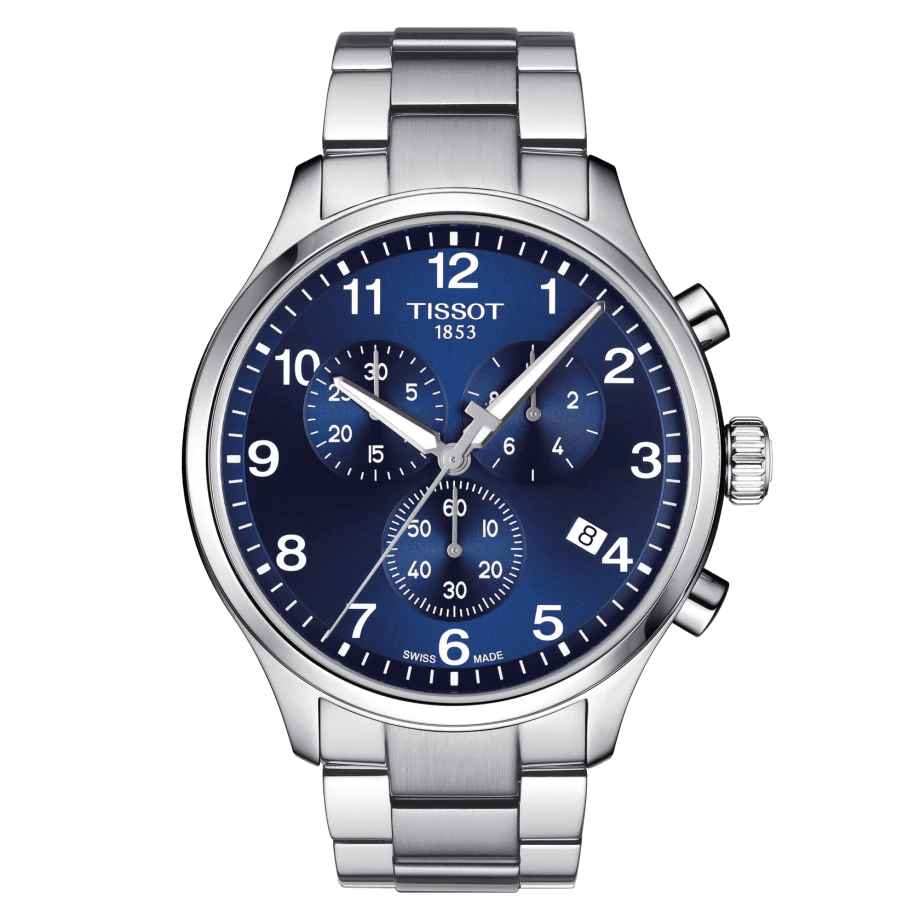 Tissot Chrono XL Classic Blue Dial Stainless Steel Men's Watch T1166171104701