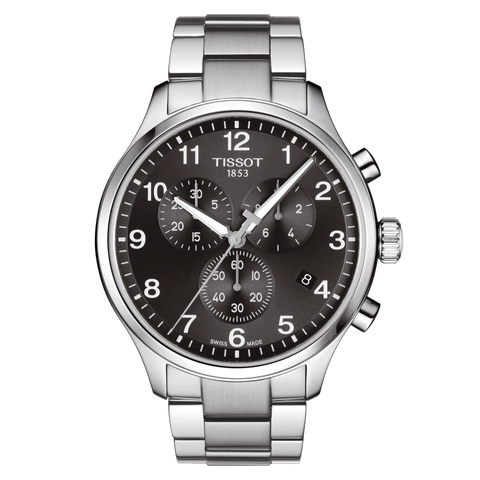 Tissot Chrono XL Classic Black Dial Stainless Steel Men's Watch T1166171105701