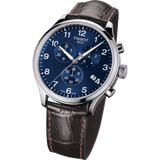 Tissot Chrono XL Classic Blue Dial Brown Leather Strap Men's Watch T1166171604700