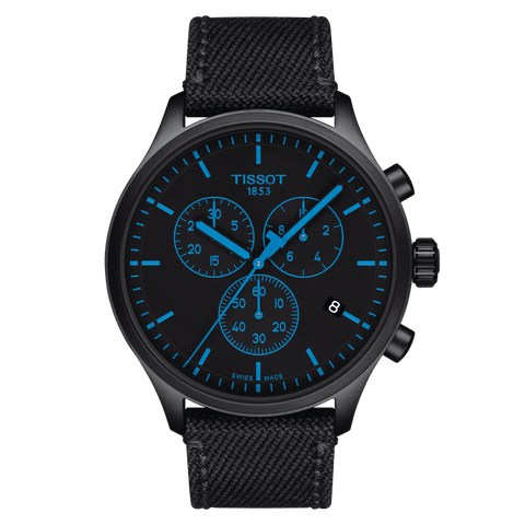 Tissot Chrono XL Classic Black PVD Blue Indices Men's Watch T1166173705100
