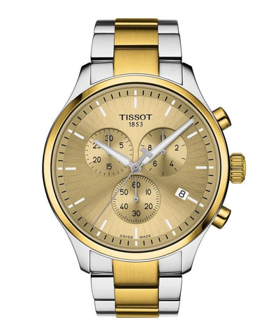 Tissot Chrono XL Classic Champagne Dial Two-Tone Stainless Steel Men's Watch T1166172202100