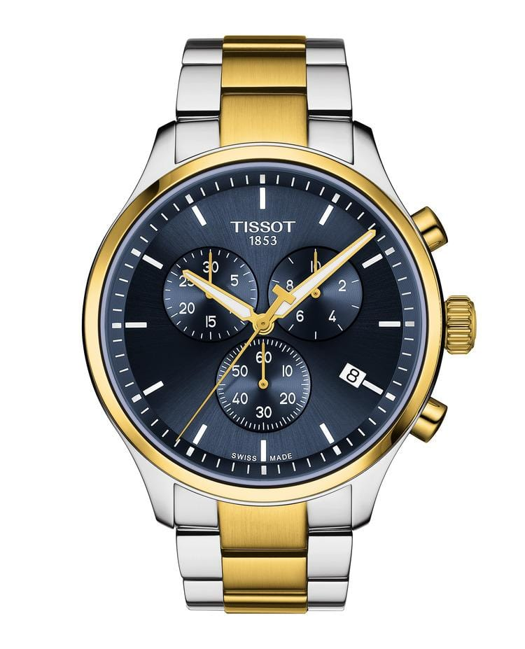 Tissot Chrono XL Classic Blue Dial Two-Tone Stainless Steel Men's Watch T1166172204100
