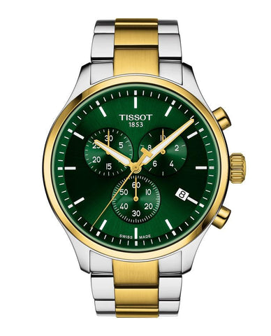 Tissot Chrono XL Classic Green Dial Two-Tone Stainless Steel Men's Watch T1166172209100