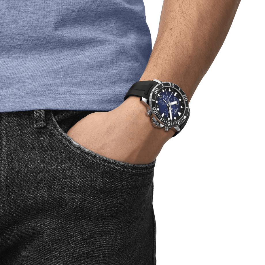 Tissot Seastar 1000 Chronograph 300M Blue Dial Men's Watch T1204171704100