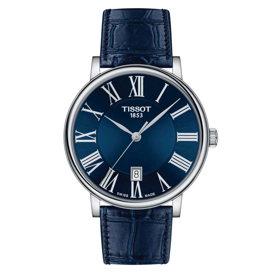 Tissot T-Classic Carson Premium Blue Swiss Quartz Men's Watch T1224101604300