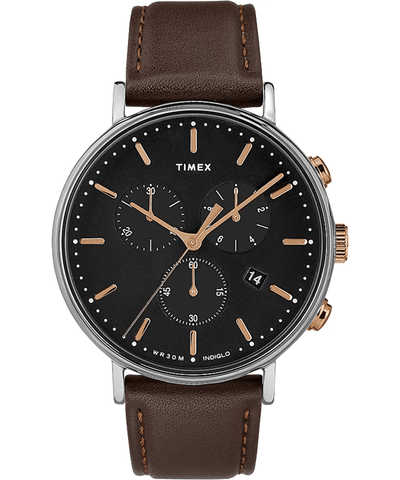 Timex Fairfield 41mm Chronograph Black Dial Men's Watch TW2T11500
