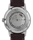 Timex Marlin 40mm Automatic Burgundy Leather Strap Men's Watch TW2T23200