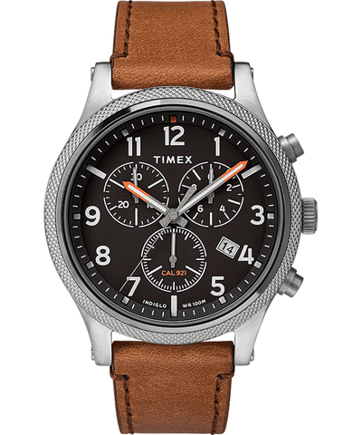 Timex Military Allied 42mm Brown Leather Strap Men's Watch TW2T32900