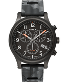 Timex Allied LT 42mm Chronograph Black Camo Men's Watch TW2T33100