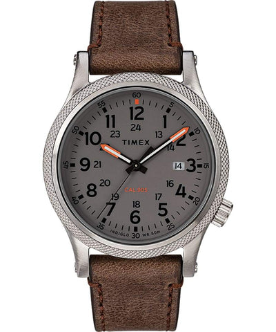 Timex Military Allied 40mm Brown Leather Strap Men's Watch TW2T33300