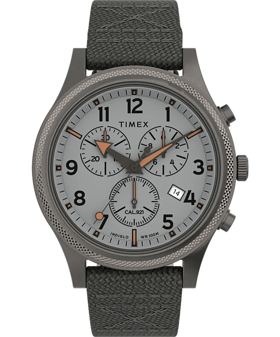 Timex Military Allied LT 42mm Grey Fabric Strap Men's Watch TW2T75700