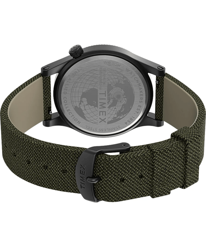 Timex Military Allied 40mm Green Dial Fabric Strap Men's Watch TW2T76000