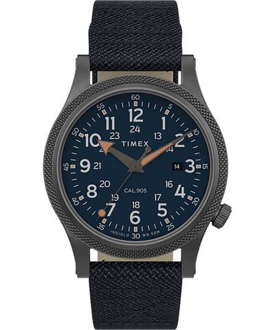 Timex Military Allied 40mm Blue Dial Fabric Strap Men's Watch TW2T76100