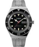 Timex M79 Automatic 40mm Black Dial Mesh Strap Men's Watch TW2U78300
