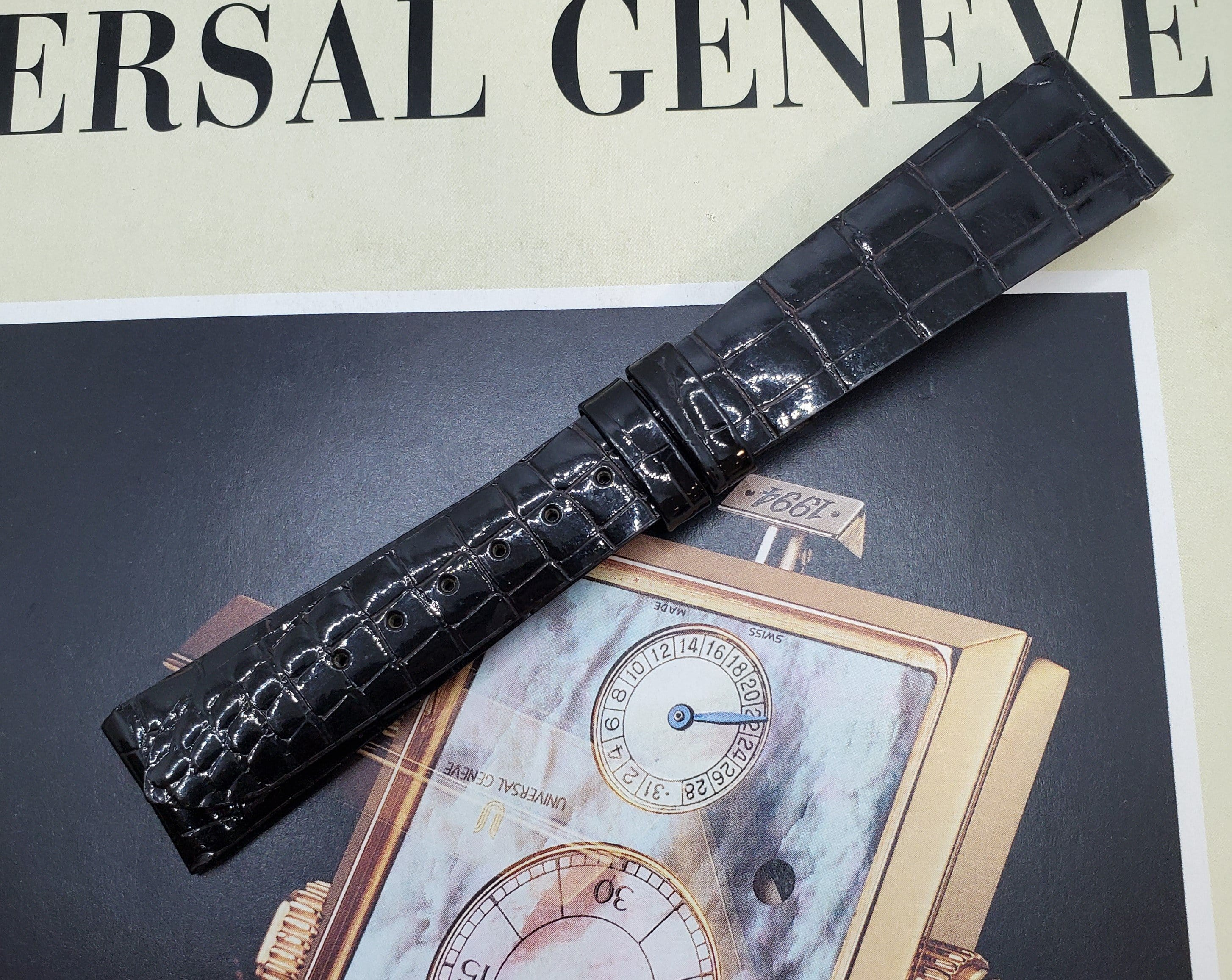 Universal Genève Vintage 18mm Chocolate Leather Watch Strap