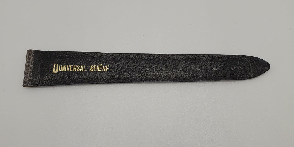 Universal Genève Vintage 20mm Grey Leather Watch Strap