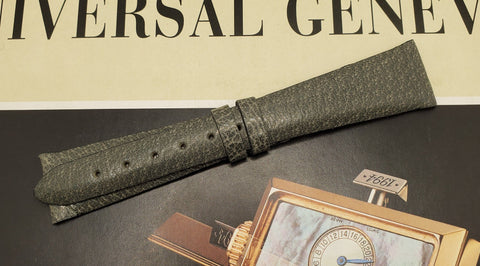 Universal Genève Vintage 20mm Green Leather Watch Strap