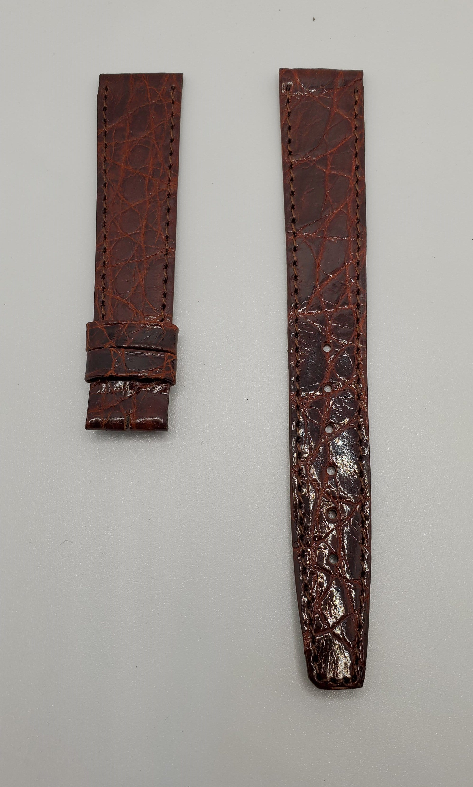 Universal Genève Vintage 16mm Burgundy Leather Watch Strap