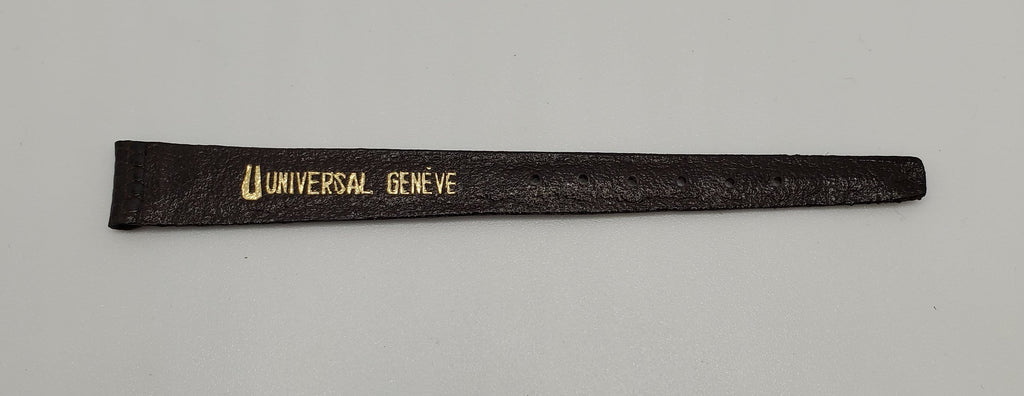 Universal Genève Vintage 12mm Dark Brown-Chocolate Leather Watch Strap
