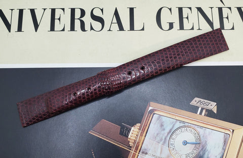Universal Genève Vintage 15mm Bordeaux Leather Watch Strap