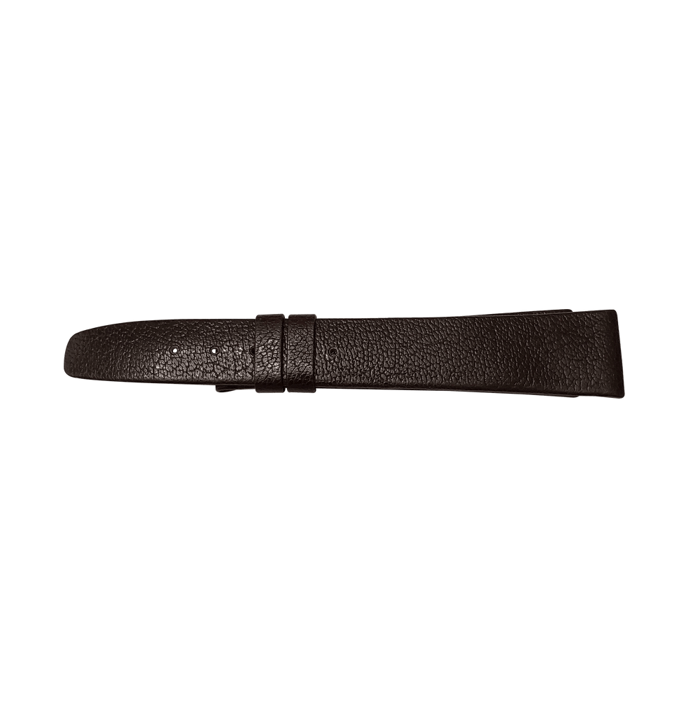 Universal Genève Vintage Dark Brown Leather Strap 18mm