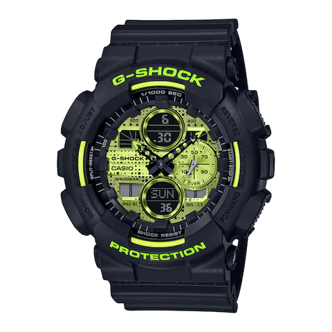 G-Shock Analog-Digital Lime Green Dial Black Men's Watch GA140DC-1A