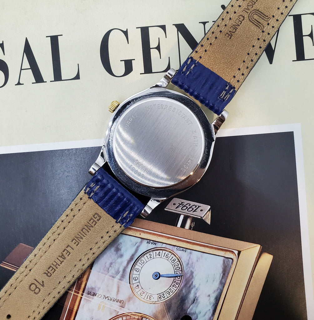 Universal Genève Moonphase Vintage Dress Watch Crica 1980s