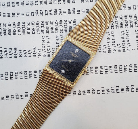 Longines Vintage Circa 1980s Gold-Tone Mesh Band Men's Watch